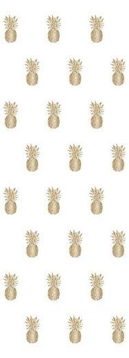 queence Vinyltapete »Ananas-Gold«, 90 x 250 cm, selbstklebend