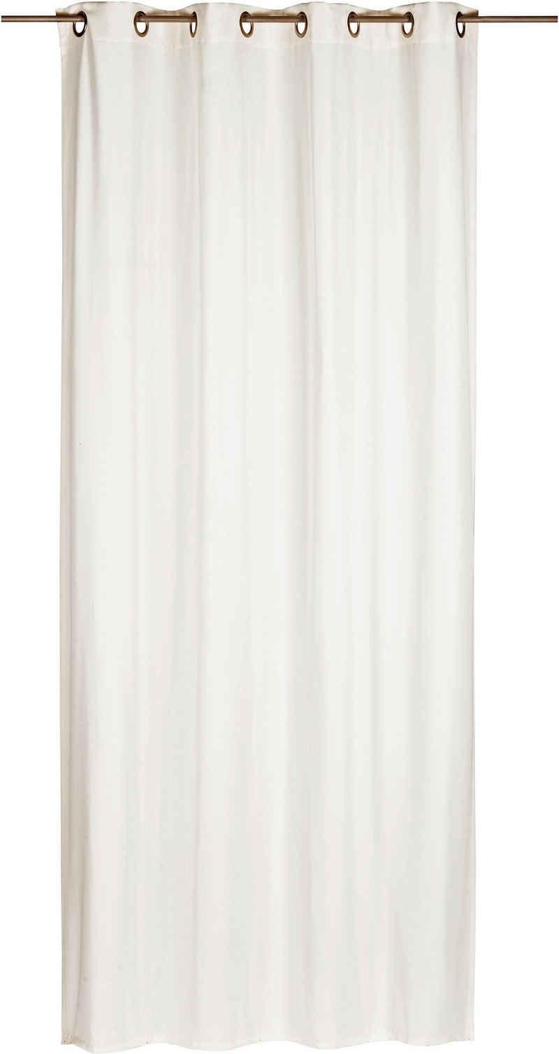 Gardine »Miami«, ELBERSDRUCKE, Ösen (1 Stück), Ösenschal Miami 00 weiß 255x140 cm blickdicht