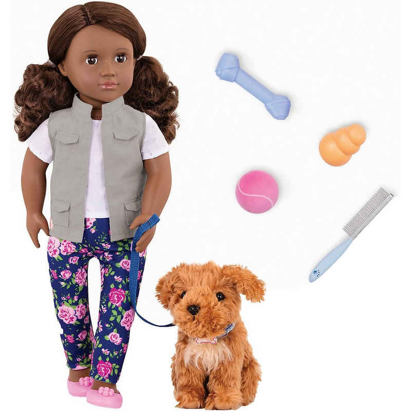 Our Generation Stehpuppe »Puppe Malia 46 cm mit Hund«