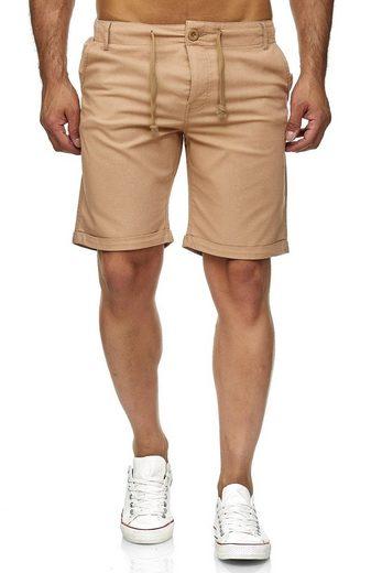 Reslad Leinenhose »Reslad Leinenhose Kurze Hose Herren Leinen-Shorts« (1-tlg) kurze Männer Strandhose im Leinen-Look