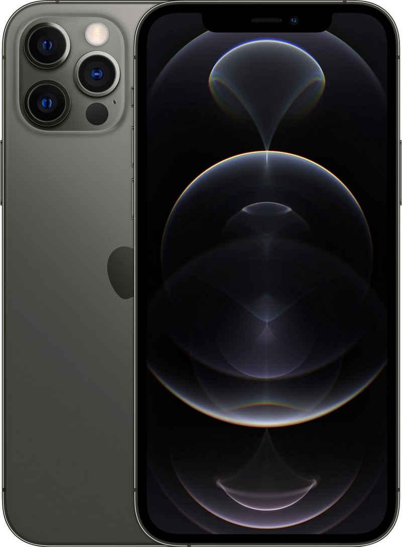 Apple iPhone 12 Pro Smartphone (15,5 cm/6,1 Zoll, 512 GB Speicherplatz, 12 MP Kamera, ohne Strom Adapter und Kopfhörer, kompatibel mit AirPods, AirPods Pro, Earpods Kopfhörer)