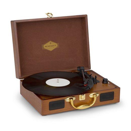 Auna »Nostalgy by auna Peggy Sue Retro-Plattenspieler LP USB AUX Holzoptik/Gold-Optik« Plattenspieler