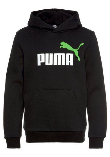 PUMA Kapuzensweatshirt »ESS+ 2 Color Big Logo Hoodie Fleece«