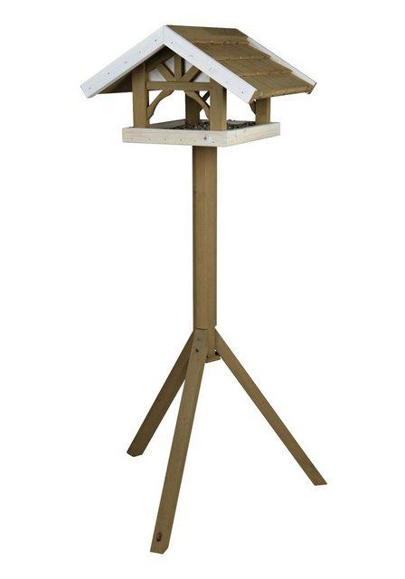TRIXIE Vogelhaus Giebel, grau/braun, mit Standbein, B/T/H: 45/44/125 cm