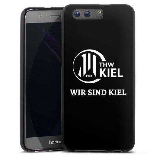 DeinDesign Handyhülle »Wir sind THW Kiel« Huawei Honor 9, Hülle Handball THW Kiel Fanartikel