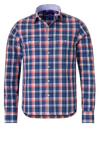 East Club London Langarmhemd im lässigen Karo-Design