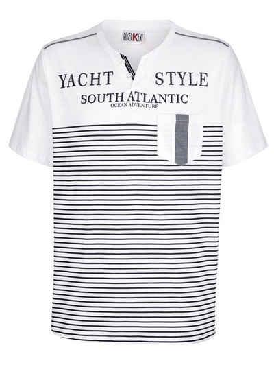 Roger Kent T-Shirt mit V-Ausschnitt