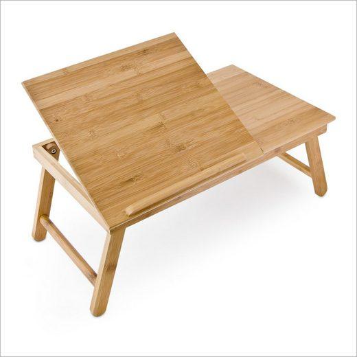 relaxdays Tabletttisch »Bambus Betttablett mit Leseklappe«