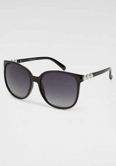 J.Jayz Sonnenbrille mit Zierperlen seitlich