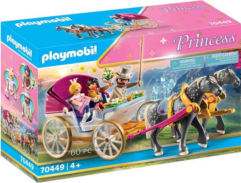 Playmobil® Konstruktions-Spielset »Romantische Pferdekutsche (70449), Princess«, (60 St), Made in Germany