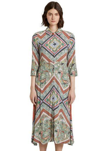 TOM TAILOR Denim Hemdblusenkleid mit wunderschönem Paisley-Muster