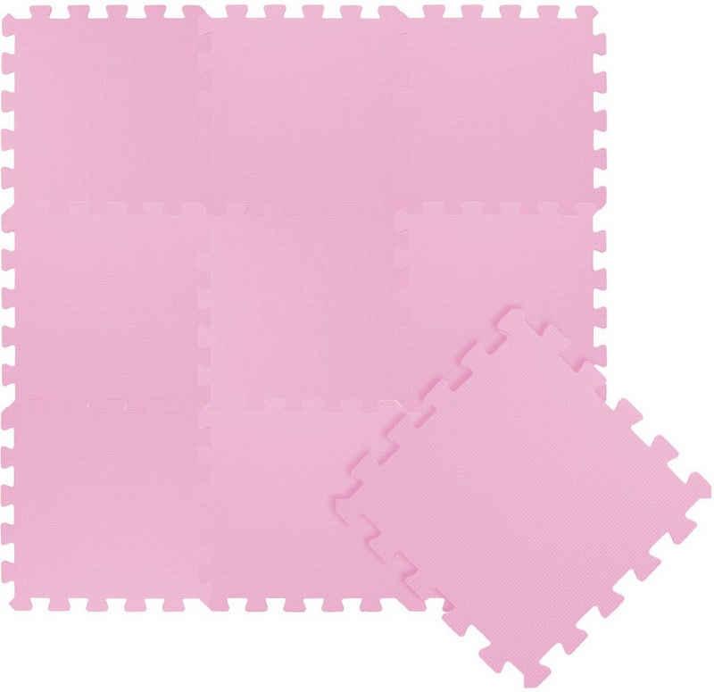 LittleTom Puzzlematte »10 Teile Baby Kinder Puzzlematte ab Null - 30x30cm«, Puzzleteile, Baby Kinder Puzzlematte pink