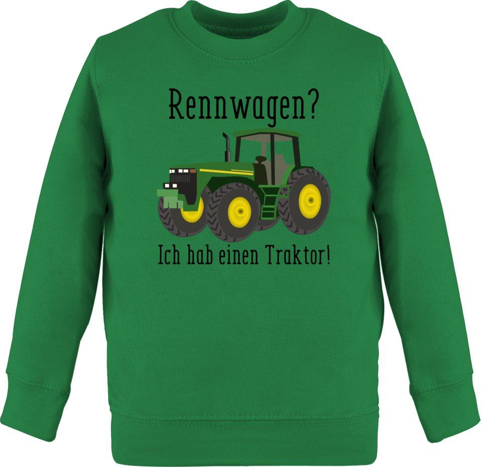 Shirtracer Fahrzeuge Kind Kinder Kontrast Hoodie Rennwagen? Traktor!