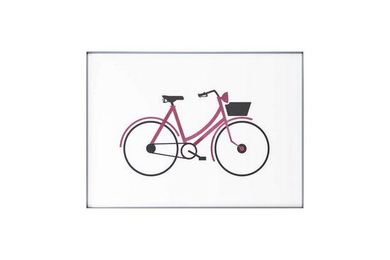 KUNSTLOFT Wandbild »Mein Fahrrad und Ich«, handgefertigtes 3D Wandbild