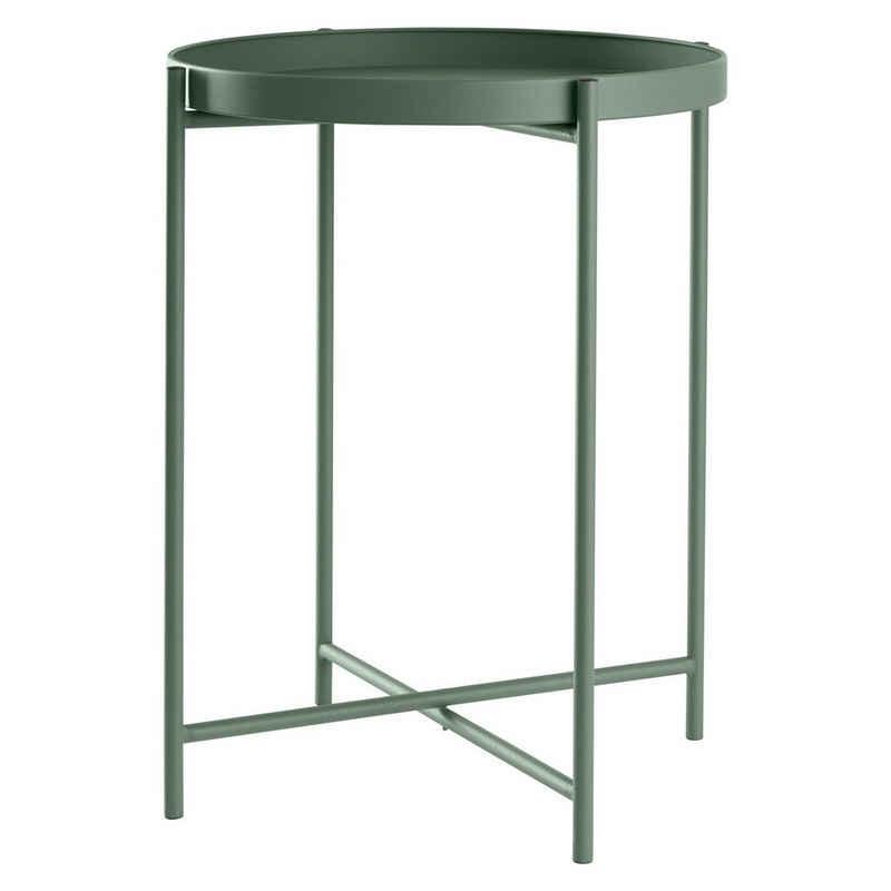 DAY - USEFUL EVERYDAY Tabletttisch »Beistelltisch rund Ø38xH50cm Metall grün«