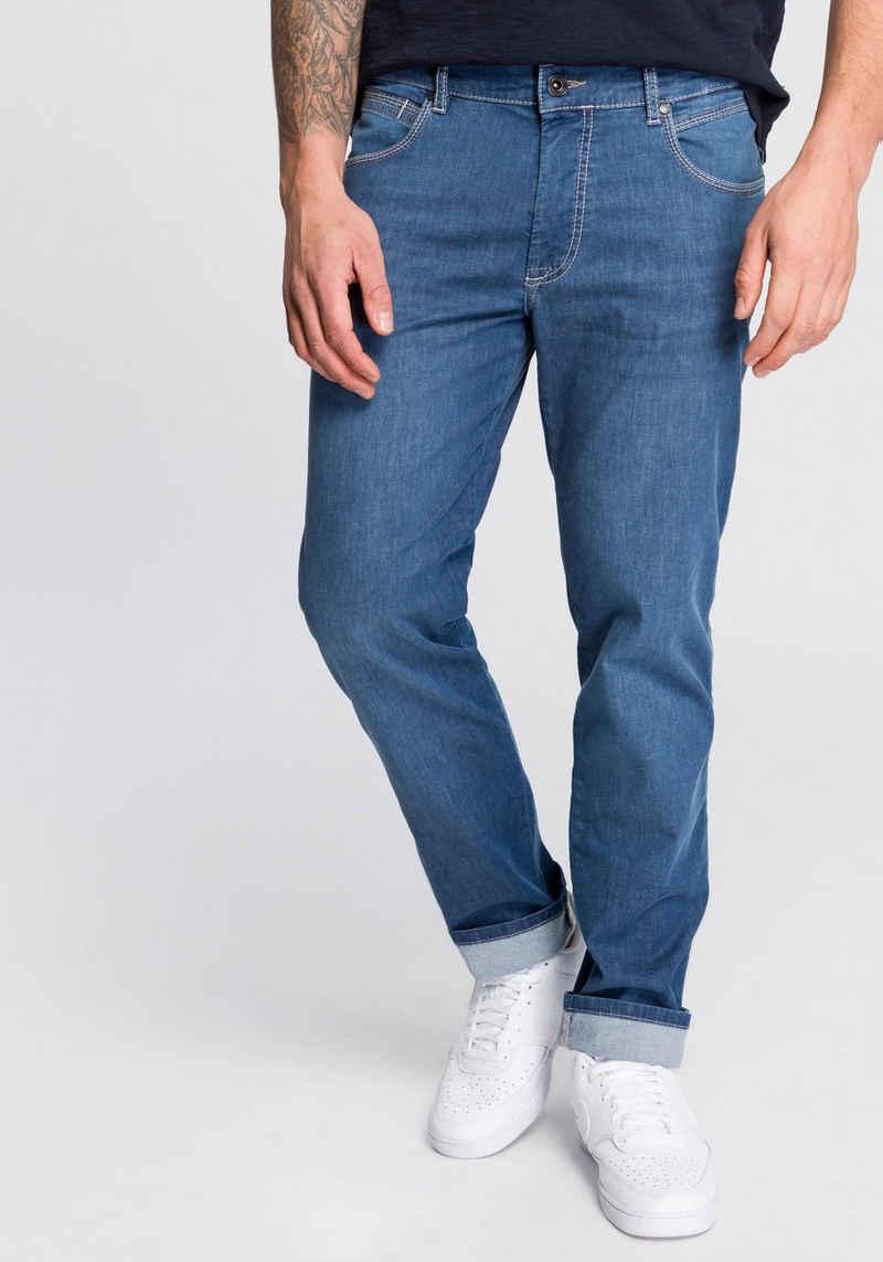 bugatti 5-Pocket-Jeans mit eingelassener Coinpocket
