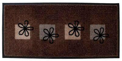 Fußmatte »Fussmatte- Blumen Braun 80x40cm«, Mr. Ghorbani, Rechteckig, Höhe 8 mm