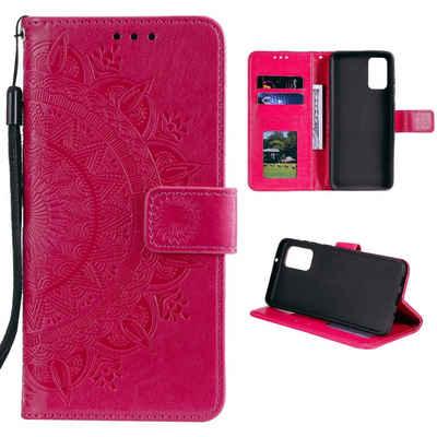 CoverKingz Handyhülle »Samsung Galaxy A52 Handy Hülle Flip Case Cover Schutzhülle Tasche Mandala Pink« Samsung Galaxy A52 16,5 cm (6,5 Zoll), Handytasche mit Kartenfach und klappbar
