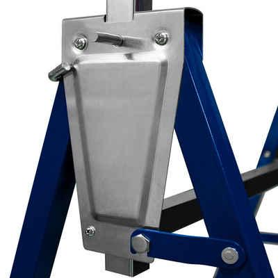 Deuba Werkbank, 2x Gerüstbock 7-fach höhenverstellbar 81-130 cm 400 kg klappbar Metall Unterstellbock Klappbock Arbeitsbock