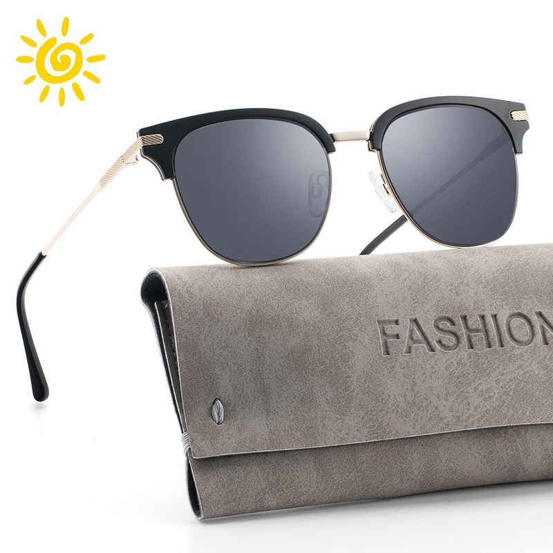 ilikable Retrosonnenbrille »ilikable Sonnenbrille Damen Retro Sunglasses, 2021 Trend Vintage Style Verlaufsglas Metallbügeln 100% UV400 Schutz«