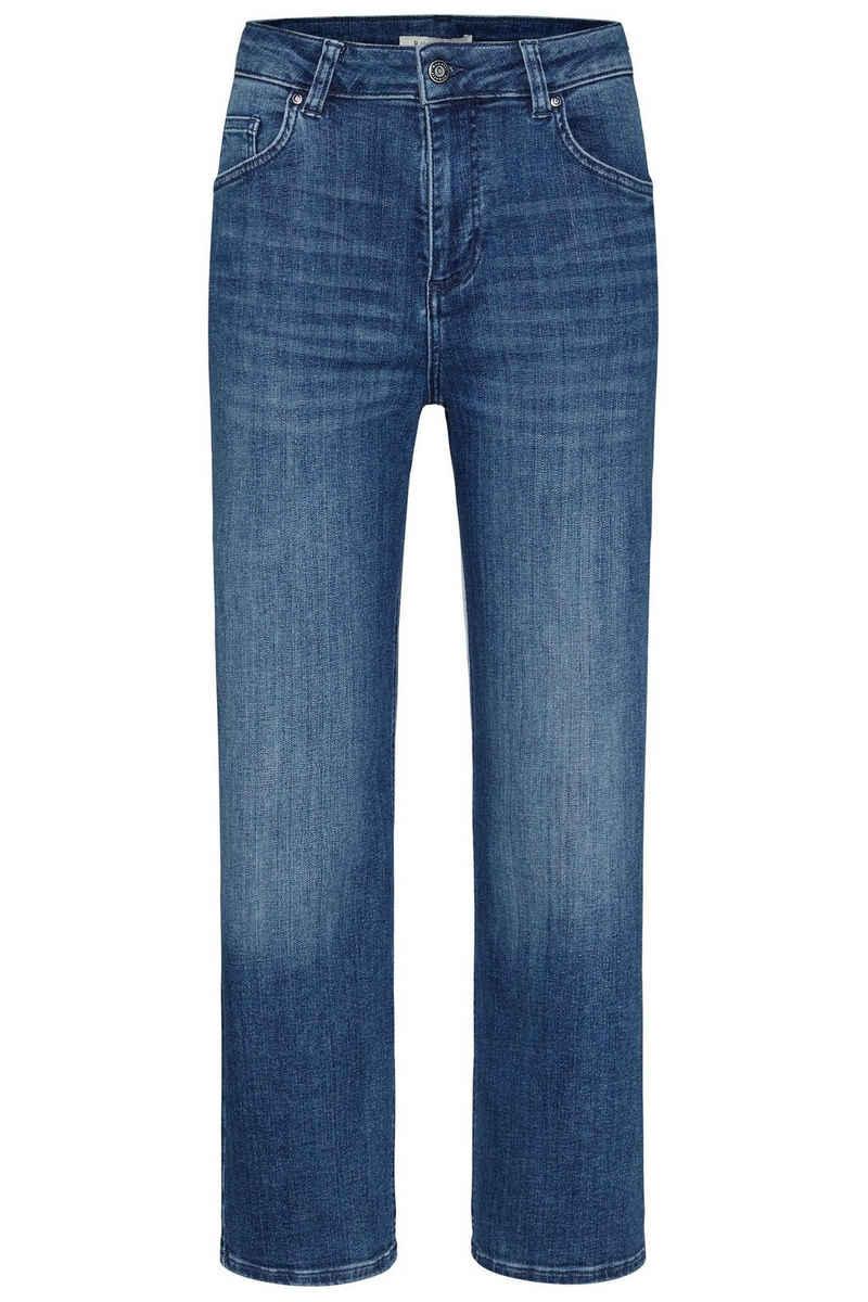 bugatti 5-Pocket-Jeans aus elastischer Baumwollware in Relax Fit