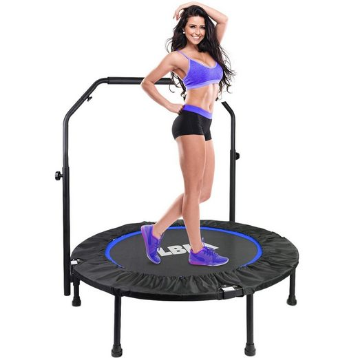 LBLA Fitnesstrampolin »40 Zoll Trampolin mit Haltegriff«, Ø 101,00 cm, Indoor Outdoor Fitness-Körperübungen, Maxbelastung bis 150kg