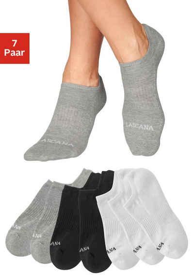 LASCANA ACTIVE Sneakersocken (7-Paar) mit Fußfrottee