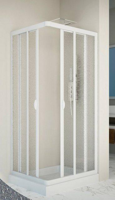 Duschen und Zubehör - Forte Eckdusche »Vela«, BxT 75x90 cm, Acrylglas, variabler Verstellbereich, BxTxH 75 x 90 x185 cm  - Onlineshop OTTO