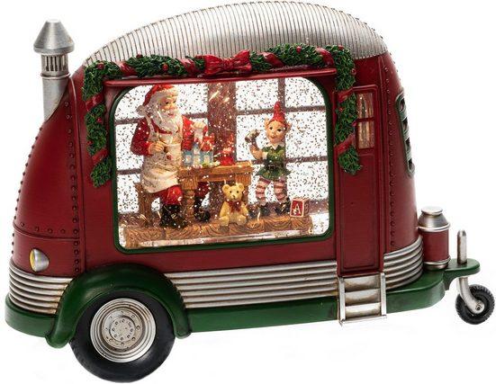 """KONSTSMIDE LED Laterne, """"Karavan"""", wassergefüllt, Weihnachtsmann repariert Spielsachen"""
