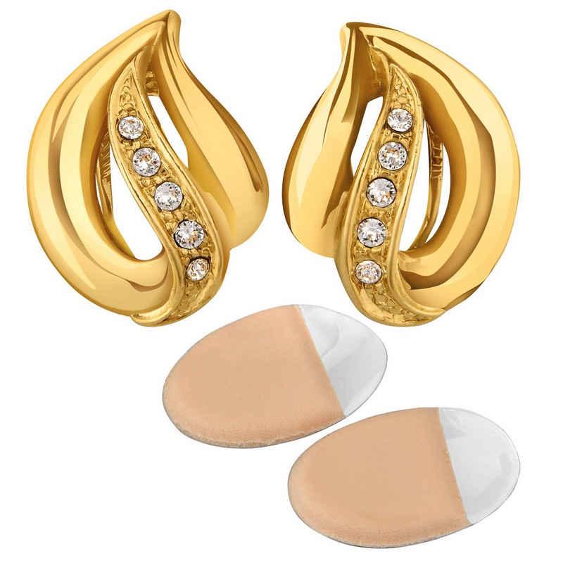 NEUMANN Paar Ohrclips »Ohrclips Damen ohne Ohr-Löcher Nina« (mit Geschenktüte, Geschenke für Frauen), elegant, mit SWAROVSKI Kristallen