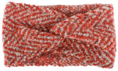 styleBREAKER Stirnband »Web Stirnband mit Zacken Muster und Twist Knoten« Web Stirnband mit Zacken Muster und Twist Knoten