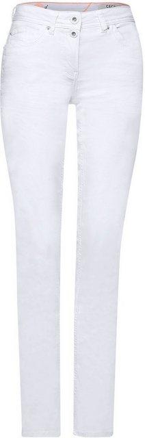 Hosen - Cecil Slim fit Jeans »Style Scarlett« mit doppeltem Knopfverschluss ›  - Onlineshop OTTO