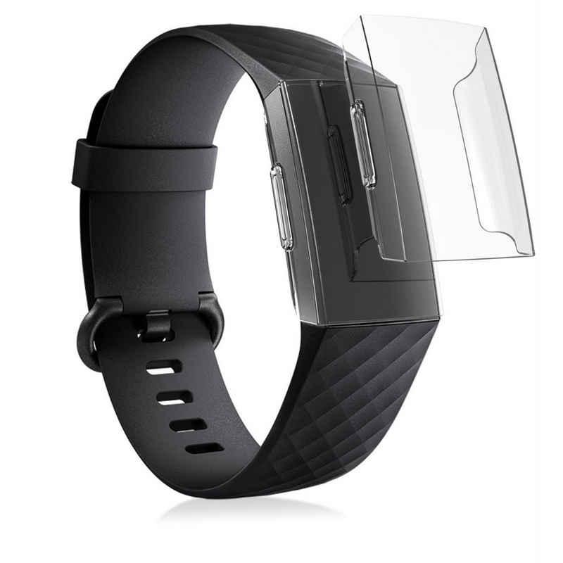 kwmobile Smartwatch-Hülle, 2x Hülle für Fitbit Charge 3 / 4 - Fitnesstracker Case Set - ohne Tracker