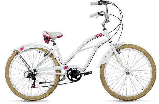 KS Cycling Cruiser »Splash«, 6 Gang Shimano Tourney Schaltwerk, Kettenschaltung