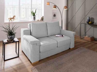 Home affaire Polstergarnitur »Tiny November«, (3-tlg), Verwandlungsofa: 2 Hocker im Sofa integriert, können separat gestellt werden, Sitzbreite 120 cm