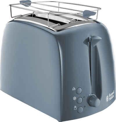 RUSSELL HOBBS Toaster Textures Grey 21644-56, 2 kurze Schlitze, für 2 Scheiben, 850 W