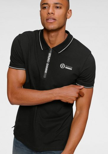 Bruno Banani Poloshirt mit Reißverschluss