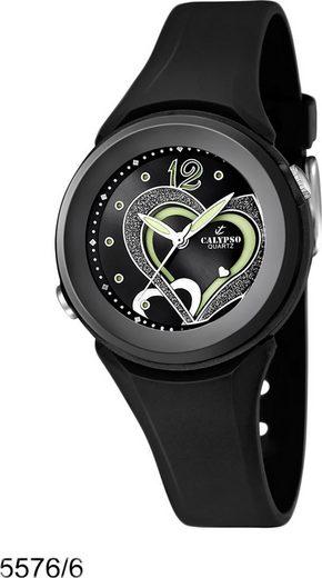 CALYPSO WATCHES Quarzuhr »UK5576/6 Calypso Damen Uhr K5576/6 Kunststoffband«, (Analoguhr), Damen Armbanduhr rund, PURarmband schwarz, Fashion