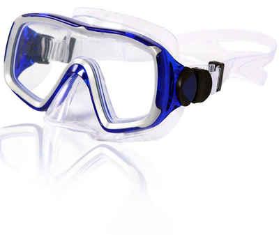 AQUAZON Taucherbrille »AQUAZON NIZZA hochwertige Schnorchelbrille, Taucherbrille, Schwimmbrille, Tauchmaske für Erwachsene, Senior size, Tempered Glas, Antibeschlag, Silikon, sehr robust«