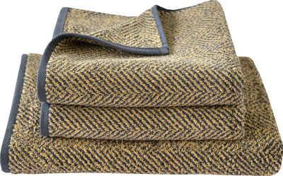 Dyckhoff Handtuch Set »Golden Shades Herringbone« (Set, 3-tlg), mit Fischgrät-Muster