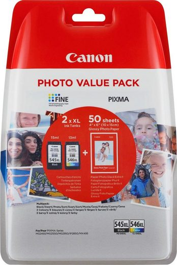 Canon »PG-545XL/CL-546XL + Foto Papier« Tintenpatrone (Set)
