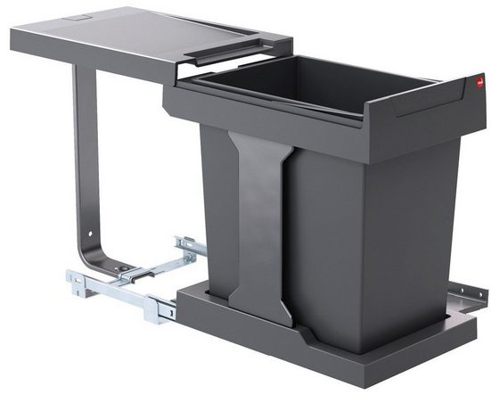 Hailo Einbaumülleimer »Hailo Abfallsammler 3636001 AS Solo 20 automatic«, für Schrankbreite ab 400 mm mit Drehtür