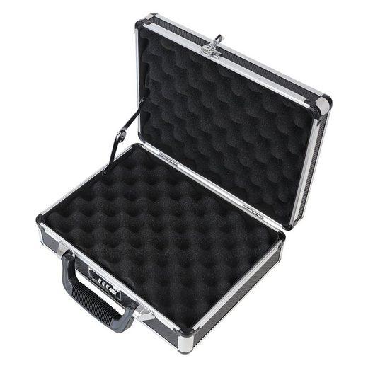 HMF Aufbewahrungsbox »Pistolenkoffer«, Alu Waffenkoffer mit Zahlenschloss, 31 x 26 x 11 cm