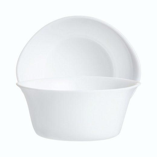 Arcoroc Salatschüssel »Gastro Cook«, Glas, Schale Stapelschale Schüssel 12.2x11cm 280ml Glas weiß 1 Stück