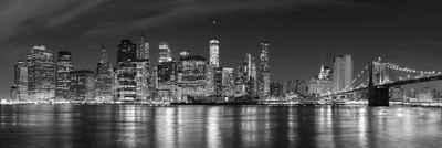 Victor (Zenith) Acrylglasbild »New York Skyline«, SchwarzWeiss, Glasbild, Wandbild, Panormabild in Hochglanzoptik, Bilder Wohnzimmer, Amerika