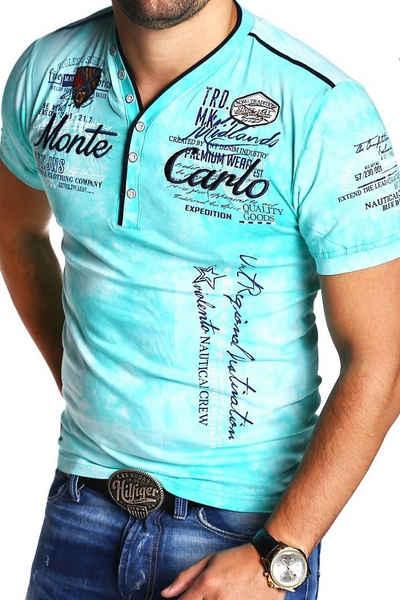 behype T-Shirt »EXTEND« mit sportiven Prints & Stickerei