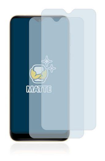 BROTECT Schutzfolie »für Wiko Y81«, (2 Stück), Folie Schutzfolie matt entspiegelt