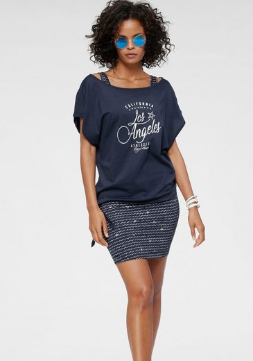 KangaROOS Jerseykleid (2-tlg) im Set mit oversize Shirt zum Knoten - NEUE KOLLEKTION