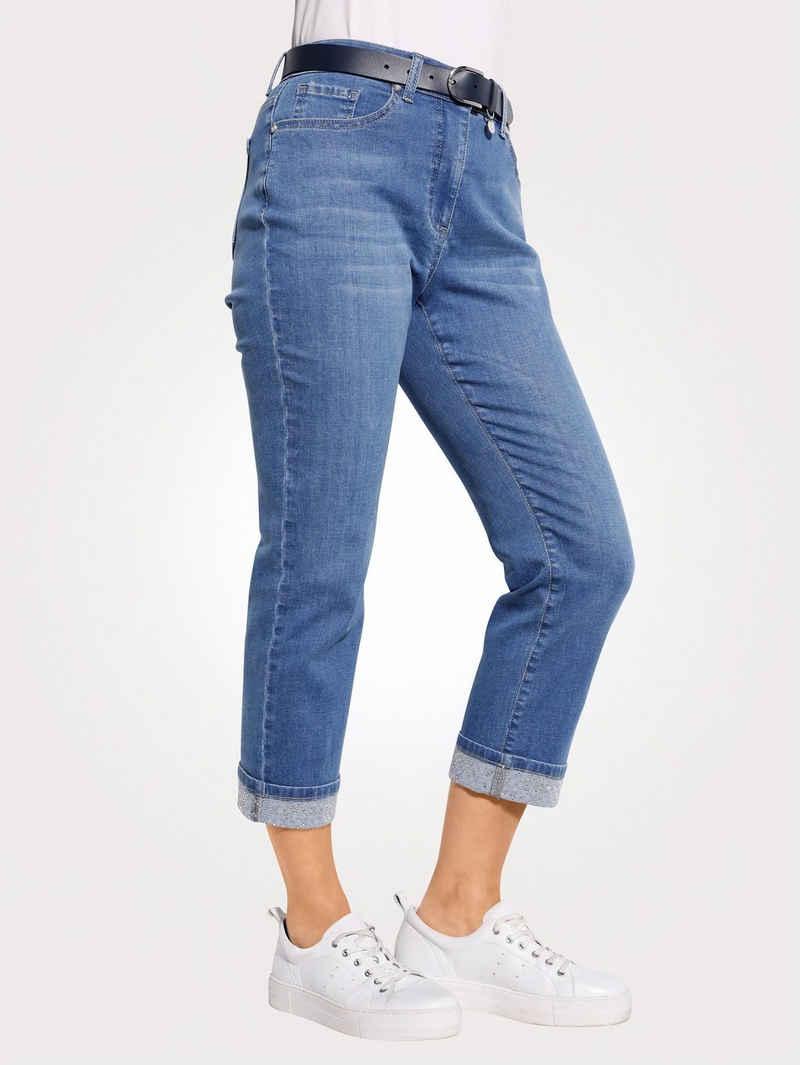 Mona 7/8-Jeans mit fixiertem Umschlag