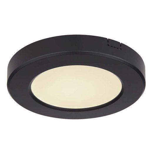 etc-shop Deckenstrahler, LED Deckenleuchte opal CCT über Schalter weiß 6 Watt schwarz 1x LED á 6W inkl.